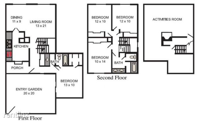 4 Bedrooms 2 Bathrooms Apartment for rent at Chapel Hill Apartments in Indianapolis, IN