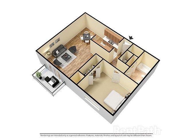 1 Bedroom 1 Bathroom Apartment for rent at Candlewyck Apartments in Kalamazoo, MI