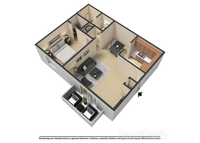 1 Bedroom 1 Bathroom Apartment for rent at Waterstone Place Apartments in Indianapolis, IN