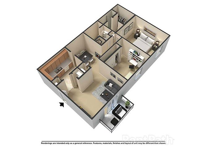 2 Bedrooms 2 Bathrooms Apartment for rent at Waterstone Place Apartments in Indianapolis, IN