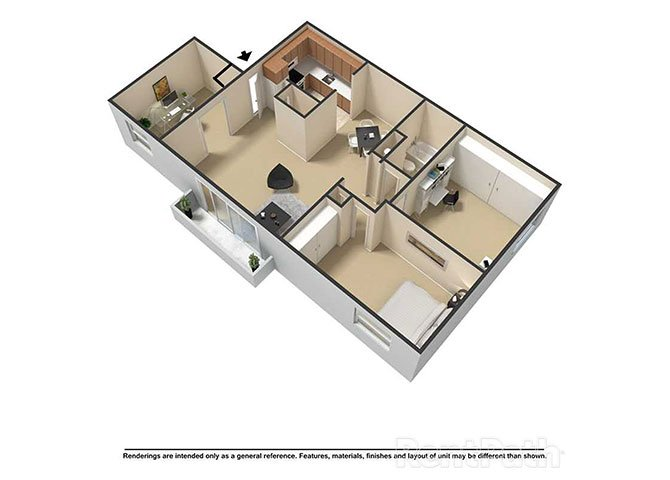 3 Bedrooms 1 Bathroom Apartment for rent at Waterstone Place Apartments in Indianapolis, IN
