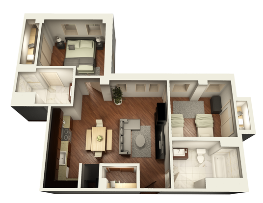 2 Bedrooms 2 Bathrooms Apartment for rent at Somerset Place Apartments in Chicago, IL
