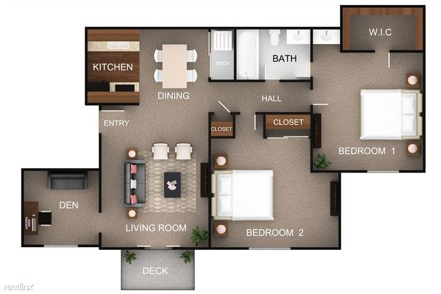 2 Bedrooms 1 Bathroom Apartment for rent at Cooks Crossing Apartments in Milford, OH