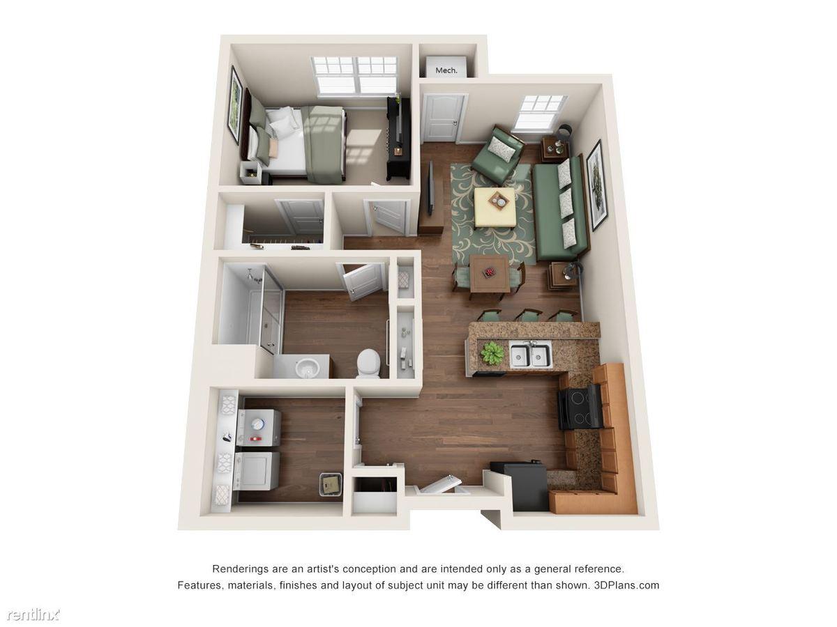 1 Bedroom 1 Bathroom Apartment for rent at Riverside Senior Lofts in Dayton, OH