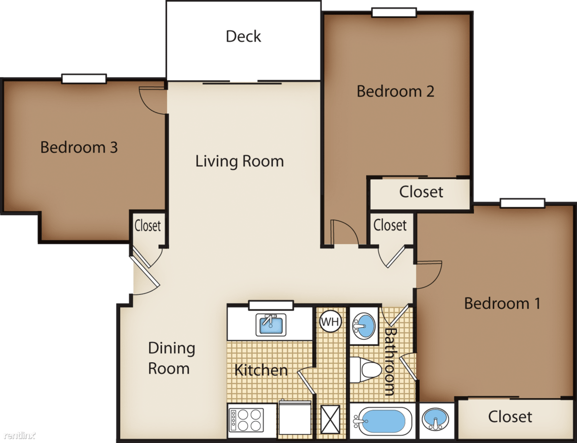 3 Bedrooms 1 Bathroom Apartment for rent at Mallard Glen Apartments in Amelia, OH