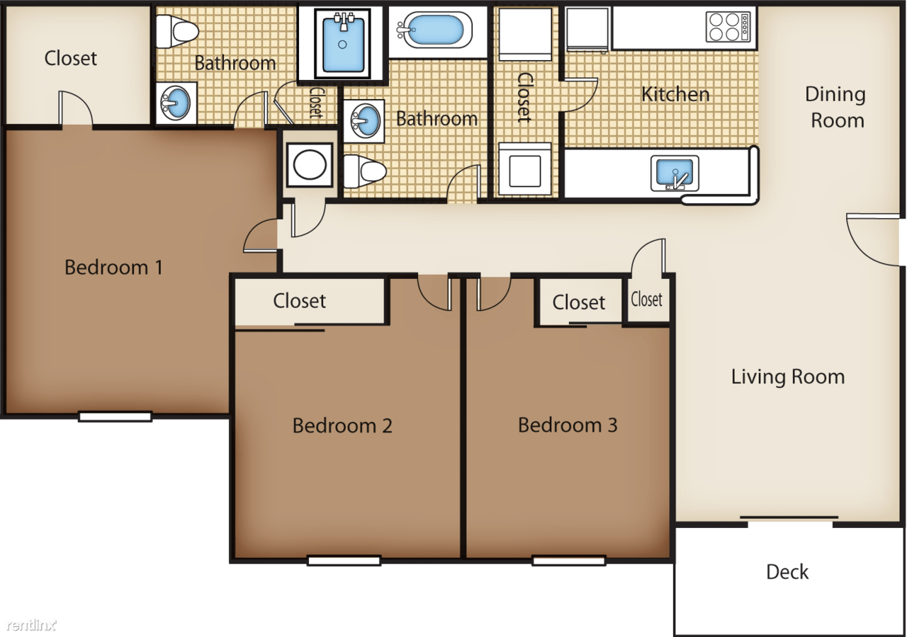 3 Bedrooms 2 Bathrooms Apartment for rent at Twin Cedars Apartments in Hickory, NC
