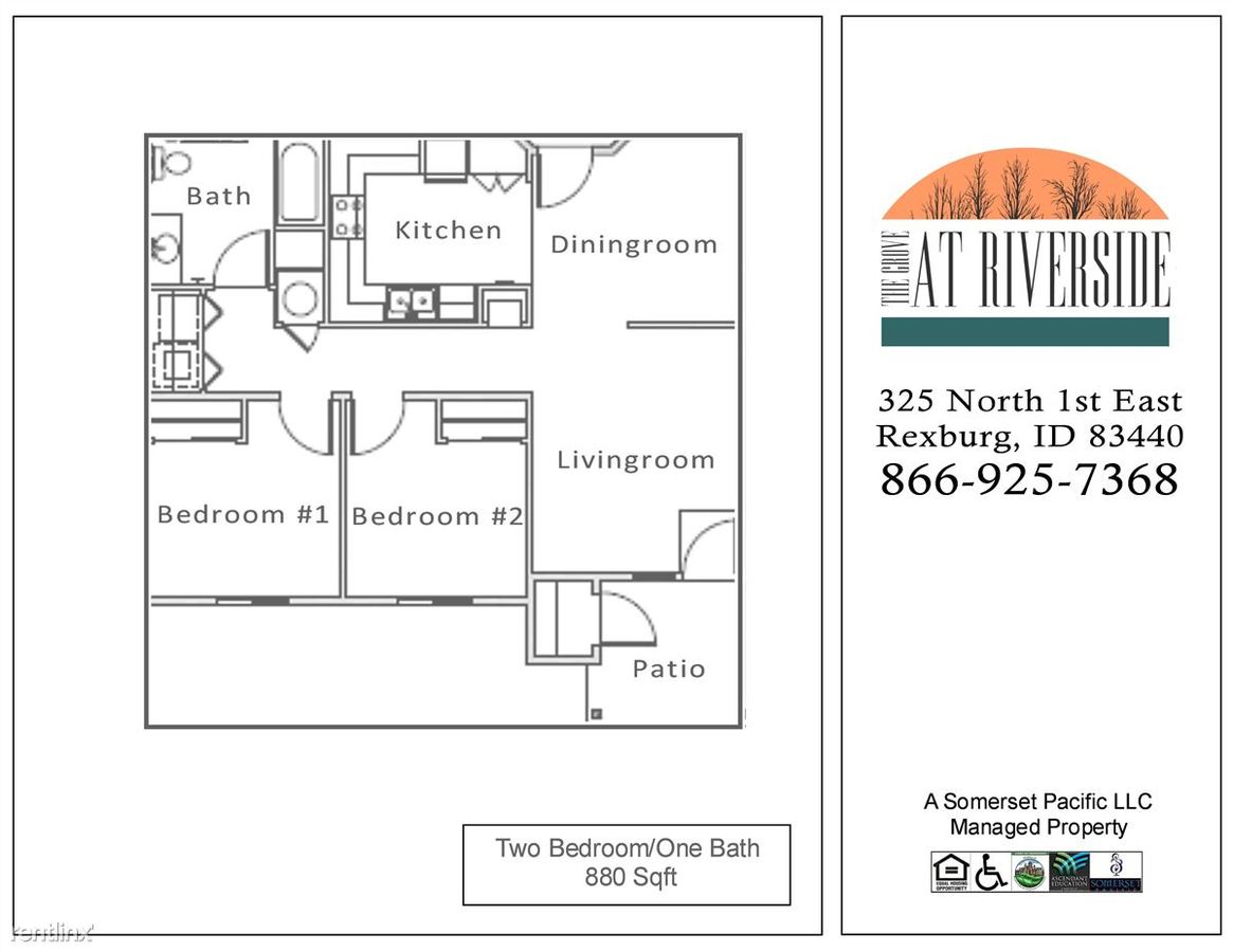2 Bedrooms 1 Bathroom Apartment for rent at The Grove At Riverside Apartments in Rexburg, ID