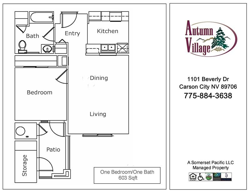 1 Bedroom 1 Bathroom Apartment for rent at Autumn Village I & Ii Apartments in Carson City, NV