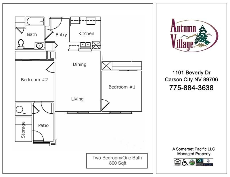 2 Bedrooms 1 Bathroom Apartment for rent at Autumn Village I & Ii Apartments in Carson City, NV