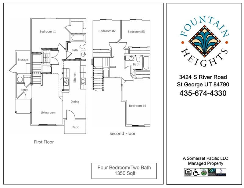 4 Bedrooms 2 Bathrooms Apartment for rent at Fountain Heights I & Ii Apartments in St George, UT