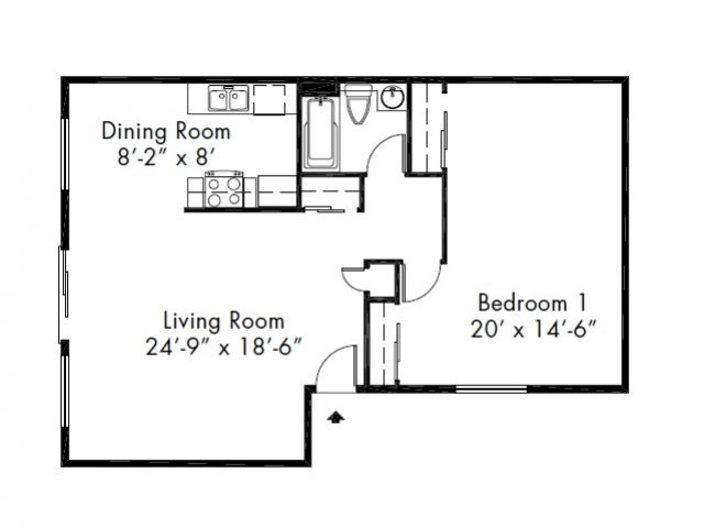 1 Bedroom 1 Bathroom Apartment for rent at Lake Park Apartment Homes in Everett, WA