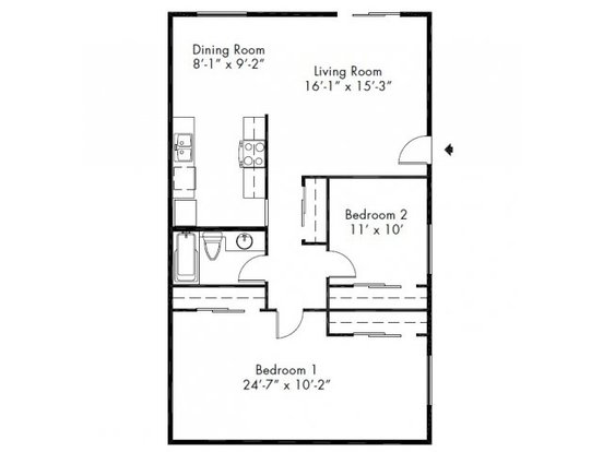 2 Bedrooms 1 Bathroom Apartment for rent at Lake Park Apartment Homes in Everett, WA