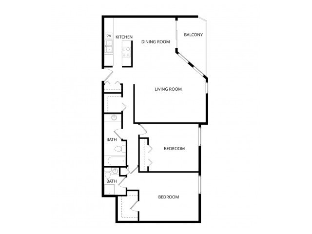 2 Bedrooms 2 Bathrooms Apartment for rent at Sherwood Apartment Homes in Seattle, WA