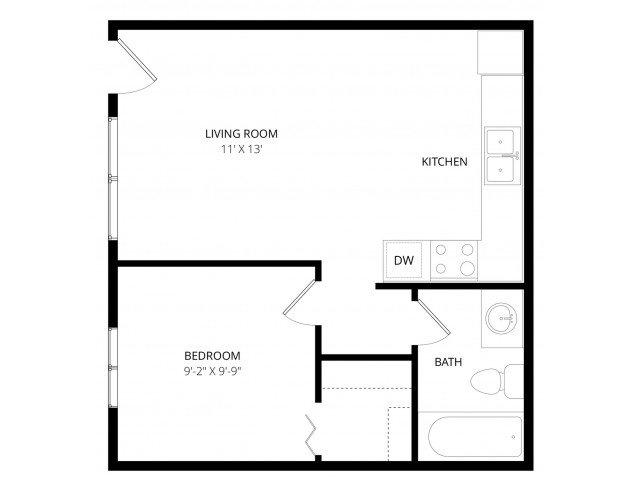 1 Bedroom 1 Bathroom Apartment for rent at Las Brisas Apartment Homes in Tucson, AZ