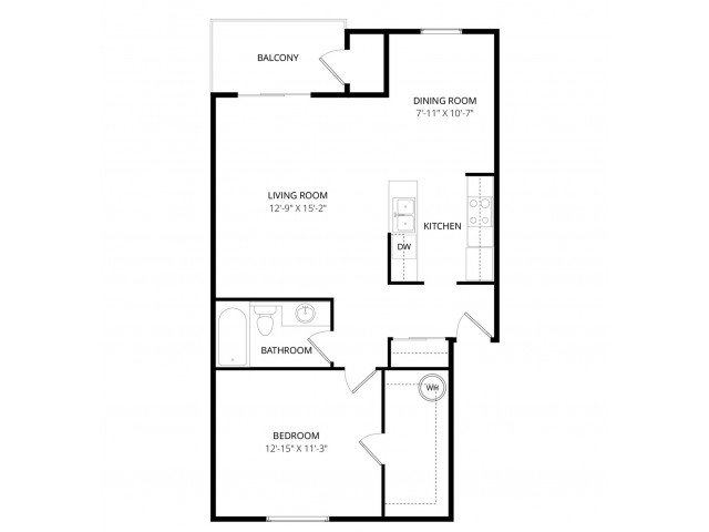 1 Bedroom 1 Bathroom Apartment for rent at Adagio in Bellevue, WA