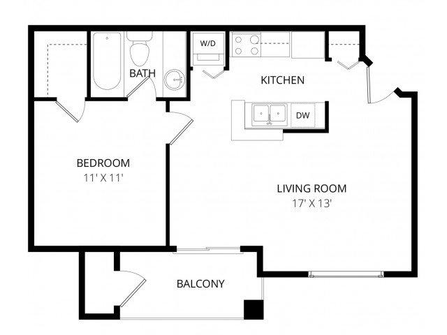 1 Bedroom 1 Bathroom Apartment for rent at Breckenridge in Everett, WA