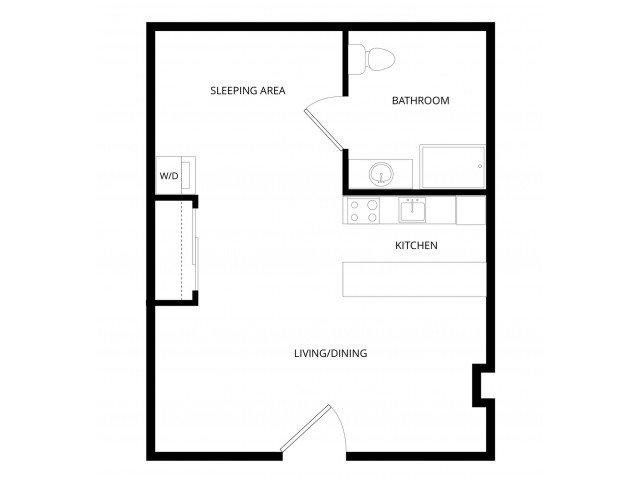 Studio 1 Bathroom Apartment for rent at Adagio in Bellevue, WA