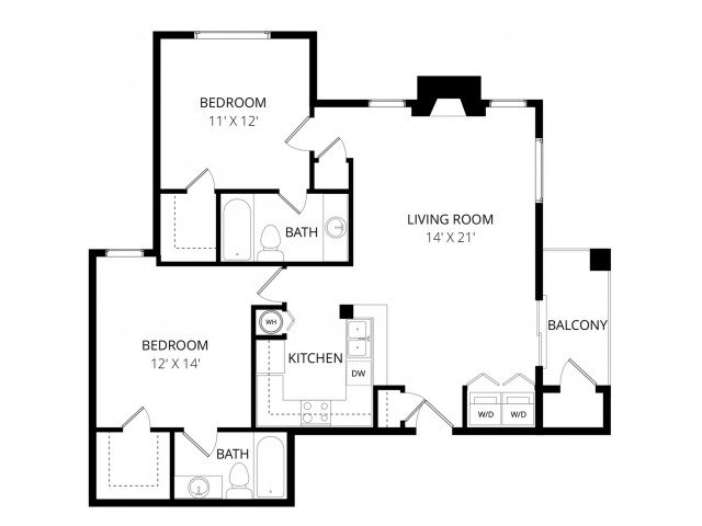 2 Bedrooms 2 Bathrooms Apartment for rent at Breckenridge in Everett, WA