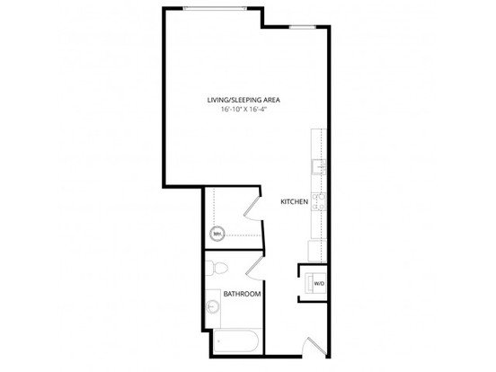 Studio 1 Bathroom Apartment for rent at Aventine Apartment Homes in Bellevue, WA