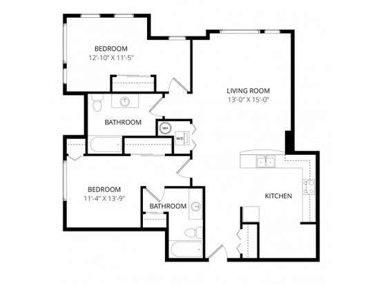2 Bedrooms 2 Bathrooms Apartment for rent at Aventine Apartment Homes in Bellevue, WA