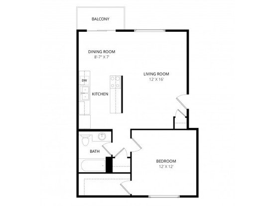 1 Bedroom 1 Bathroom Apartment for rent at Whispering Cedars Apartment Homes in Lynnwood, WA