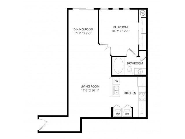 1 Bedroom 1 Bathroom Apartment for rent at Bolero Apartment Homes in Phoenix, AZ