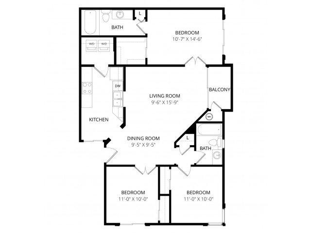 3 Bedrooms 2 Bathrooms Apartment for rent at Bolero Apartment Homes in Phoenix, AZ
