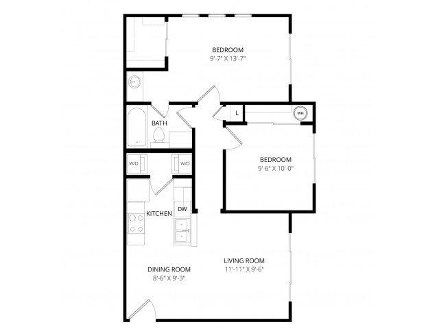 2 Bedrooms 1 Bathroom Apartment for rent at Bolero Apartment Homes in Phoenix, AZ