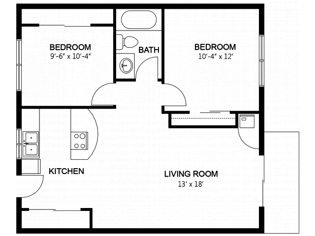 2 Bedrooms 1 Bathroom Apartment for rent at Regency Woods Apartment Homes in Renton, WA