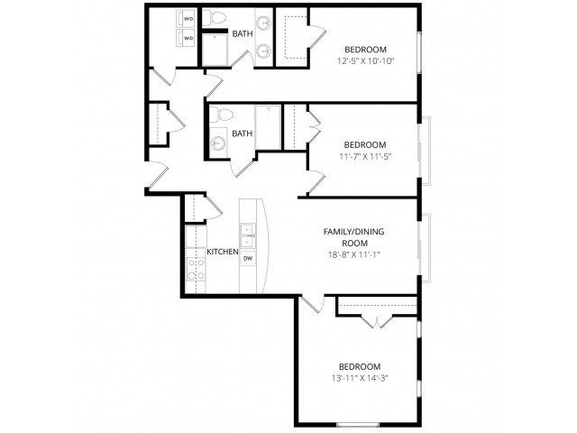 3 Bedrooms 2 Bathrooms Apartment for rent at The Artiste Apartment Homes in Shoreline, WA