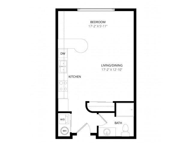 Studio 1 Bathroom Apartment for rent at Ondine At Juanita Bay in Kirkland, WA