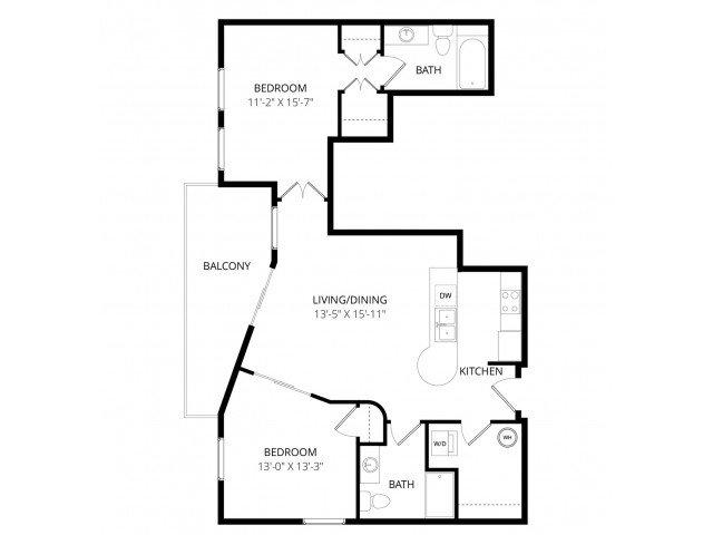 2 Bedrooms 1 Bathroom Apartment for rent at Ondine At Juanita Bay in Kirkland, WA