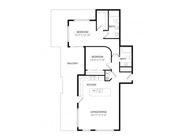 2 Bedrooms 2 Bathrooms Apartment for rent at Ondine At Juanita Bay in Kirkland, WA