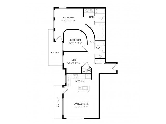 2 Bedrooms 2 Bathrooms Apartment for rent at Ondine At Juanita Bay in Kirkland, WA