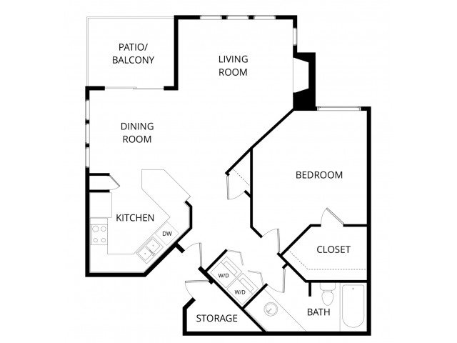 1 Bedroom 1 Bathroom Apartment for rent at The Hawthorne in Phoenix, AZ