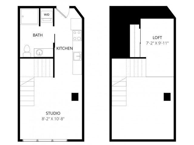 Studio 1 Bathroom Apartment for rent at 7 West in Minneapolis, MN