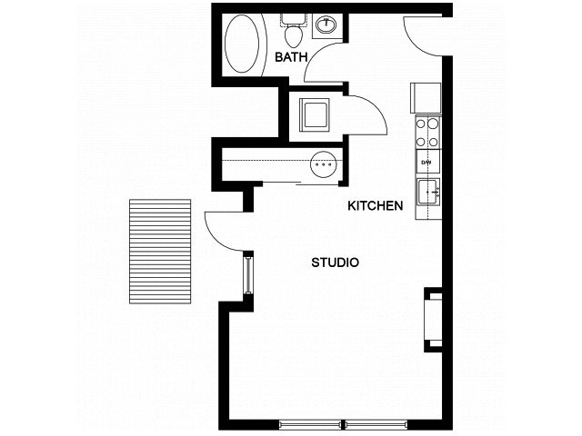 Studio 1 Bathroom Apartment for rent at Woodin Creek Village in Woodinville, WA
