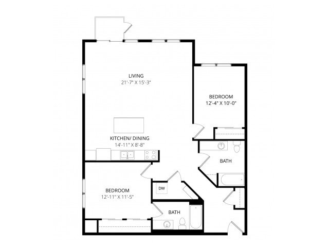 2 Bedrooms 2 Bathrooms Apartment for rent at Lofts At Farmers Market in St Paul, MN