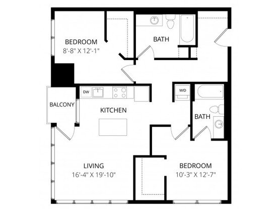 2 Bedrooms 2 Bathrooms Apartment for rent at 7 West in Minneapolis, MN