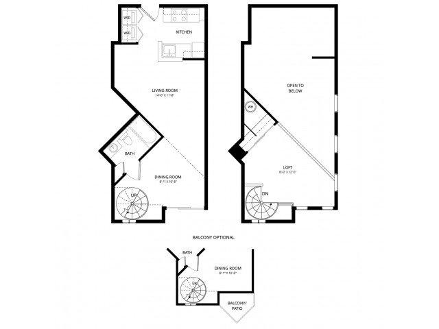 Studio 1 Bathroom Apartment for rent at Acclaim Apartment Homes in Phoenix, AZ