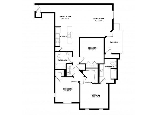 3 Bedrooms 2 Bathrooms Apartment for rent at Aspire Pinnacle Peak in Phoenix, AZ
