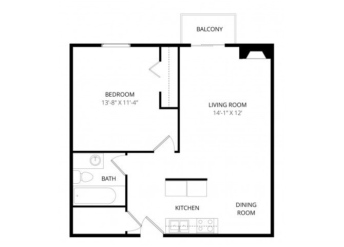 1 Bedroom 1 Bathroom Apartment for rent at Broadmoor Park Terrace in Colorado Springs, CO