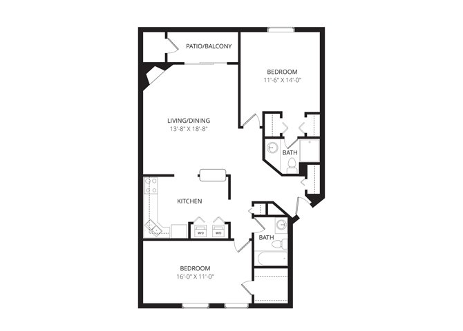 2 Bedrooms 2 Bathrooms Apartment for rent at River's Cove in Germantown, WI