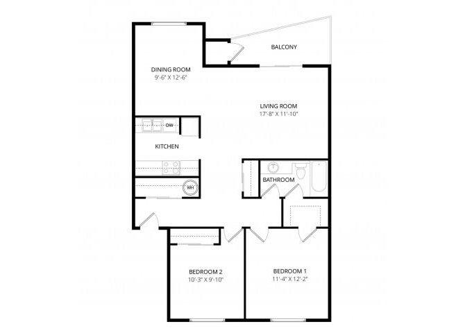 2 Bedrooms 1 Bathroom Apartment for rent at Adagio in Bellevue, WA