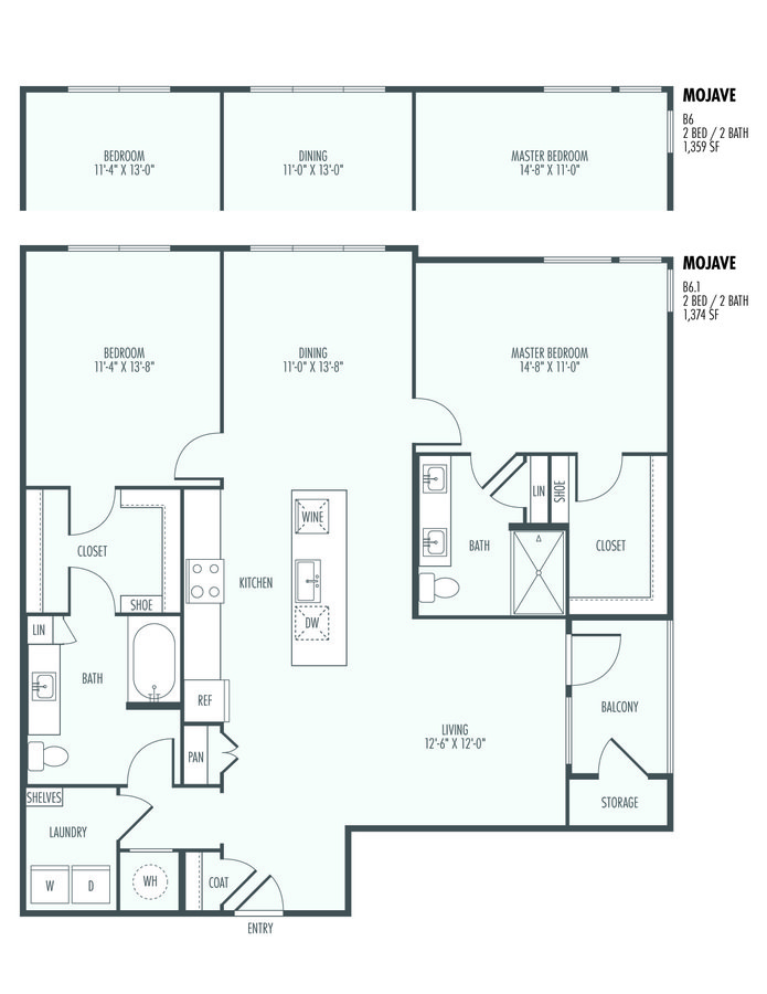 2 Bedrooms 2 Bathrooms Apartment for rent at The Flats At Santan in Gilbert, AZ