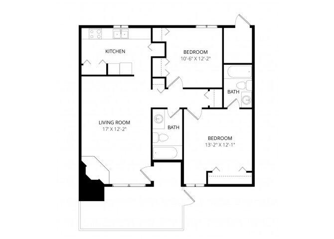 2 Bedrooms 2 Bathrooms Apartment for rent at Las Brisas in Tucson, AZ