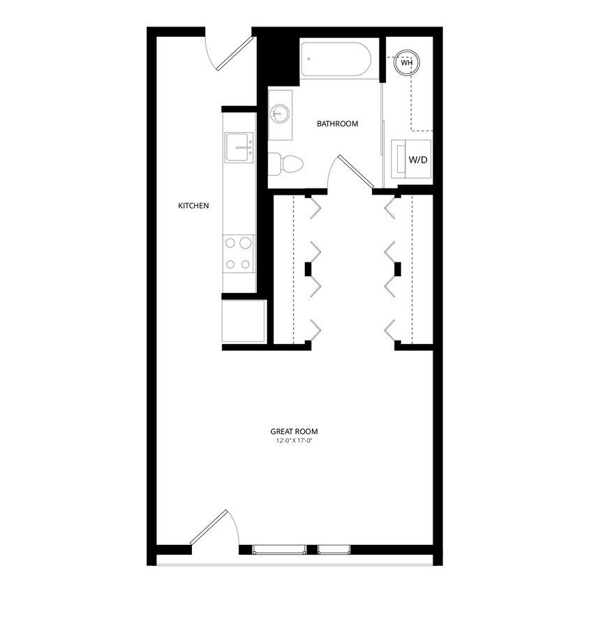 Studio 1 Bathroom Apartment for rent at The Trend At 51 in Phoenix, AZ