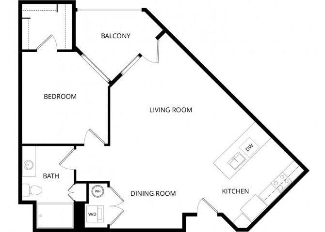 1 Bedroom 1 Bathroom Apartment for rent at Roosevelt Row in Phoenix, AZ
