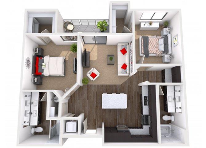 2 Bedrooms 2 Bathrooms Apartment for rent at Escape in Phoenix, AZ