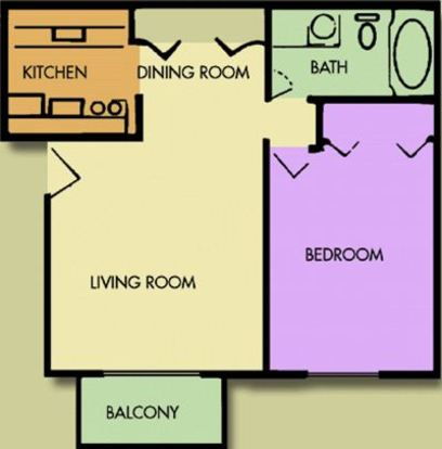 1 Bedroom 1 Bathroom Apartment for rent at Bavarian Village in Indianapolis, IN